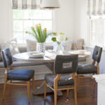 furniture arranging mistakes and how fix them better homes breakfast nook banquette table between two accent chairs kitchen room essentials trestle cabbage rose tiffany lamp retro 150x150