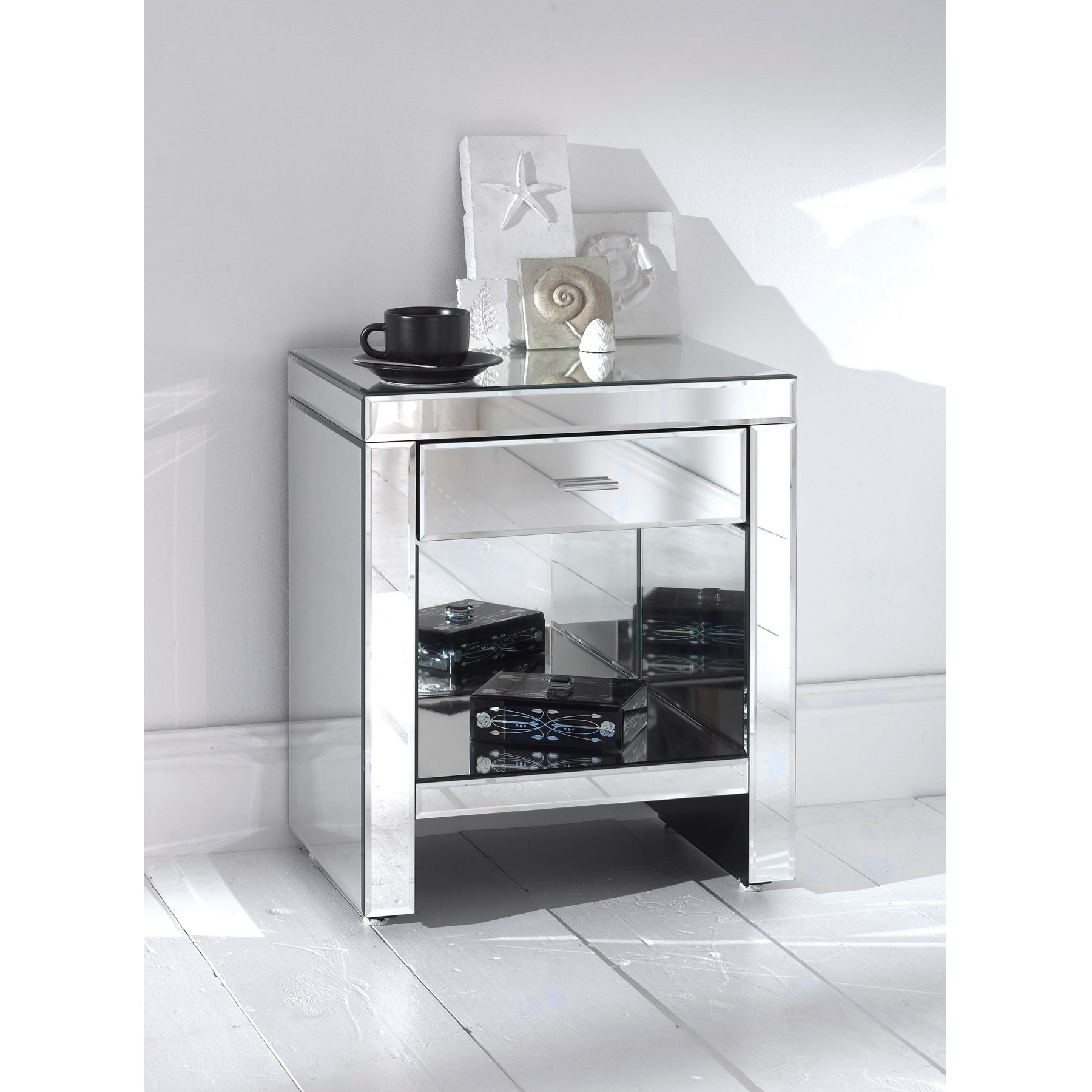 furniture awesome mirrored nightstand for home with storage base and single drawer bedroom ideas mirror bedside table diy dresser maple nightsta white accent side designs