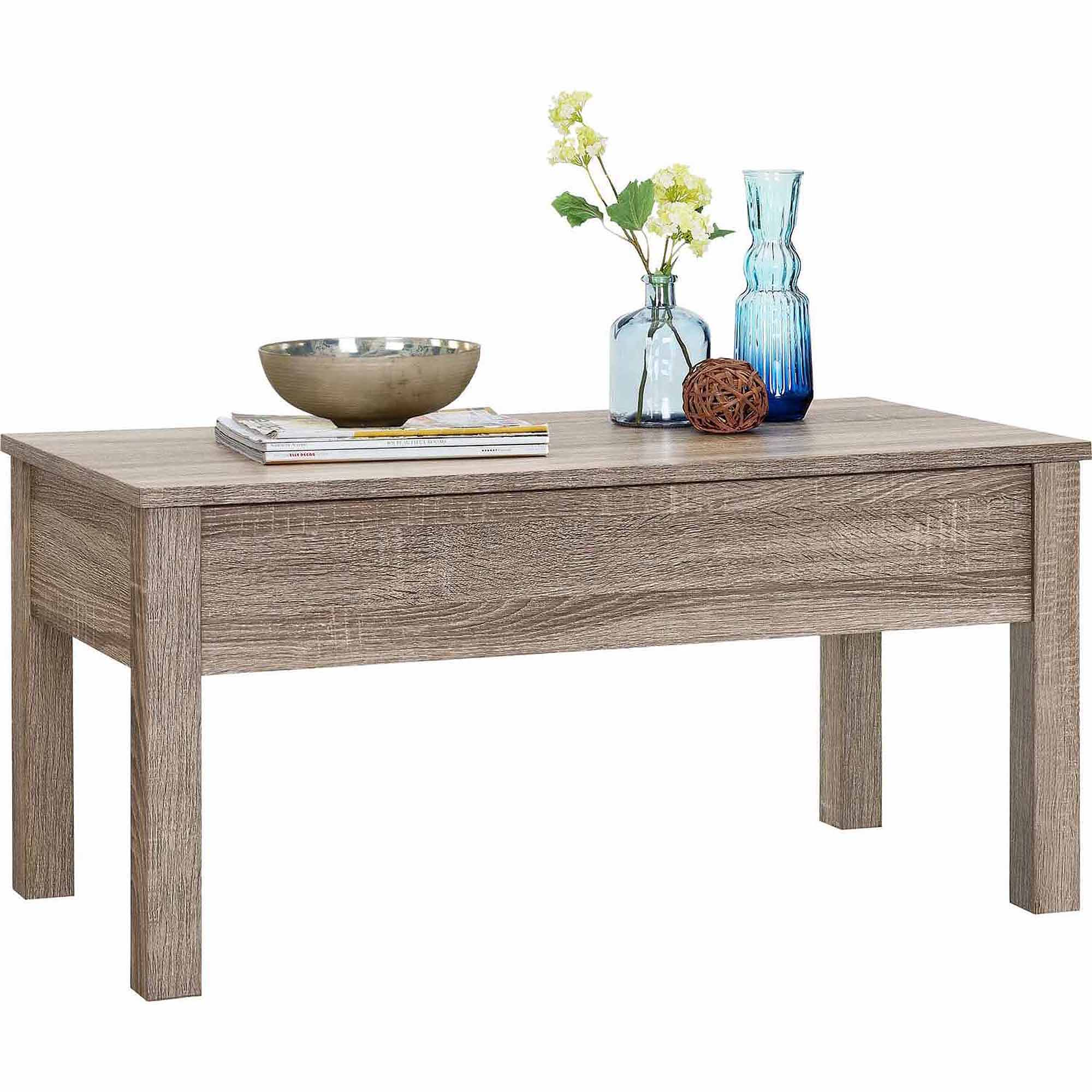 Foldable Coffee Side End Table Table Easy Storage Small Blue Wooden Folding