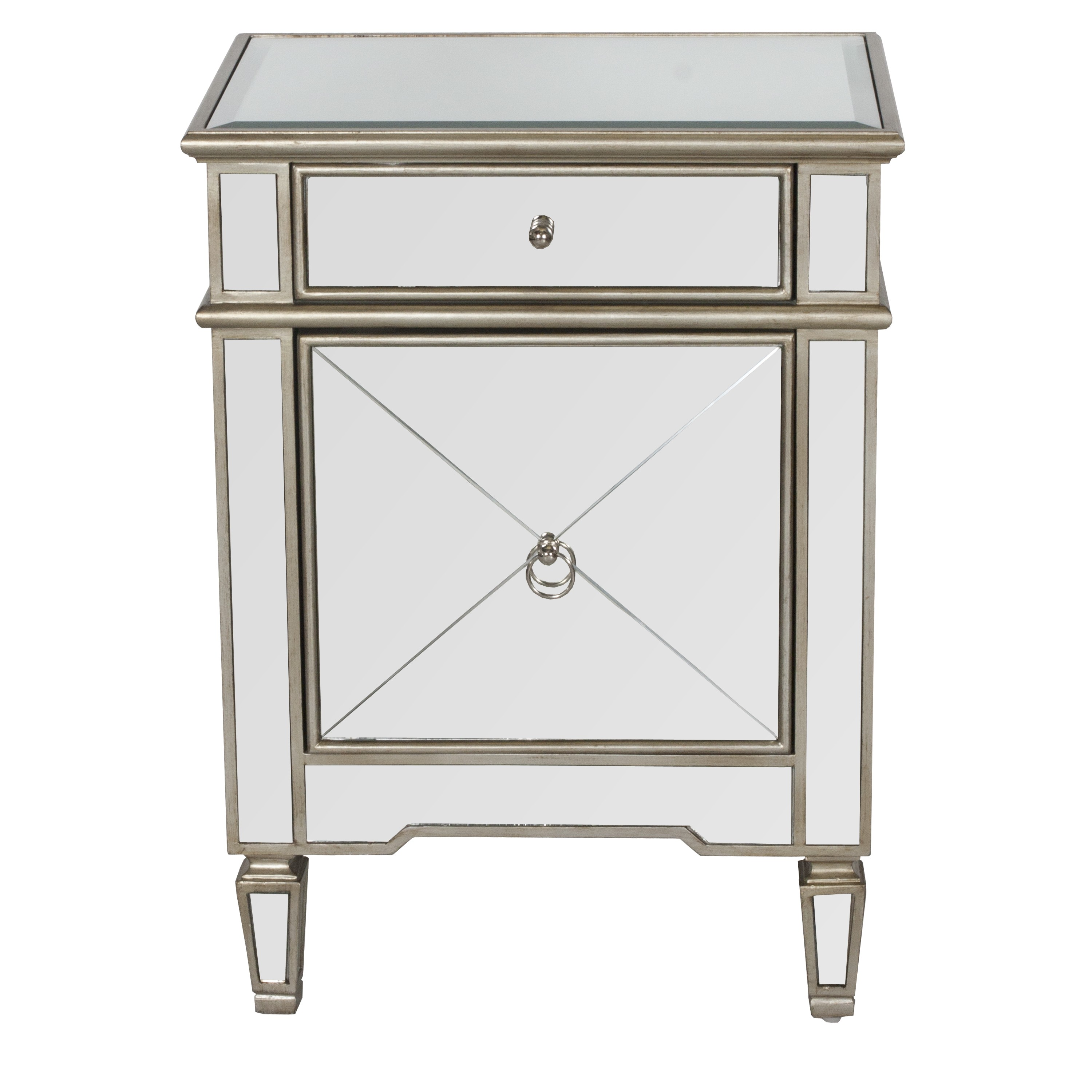 furniture beautiful silver nightstand for contemporary modern table small mirrored dresser and side with drawer tall narrow bedside natural wood cream colored gold accent cabinet