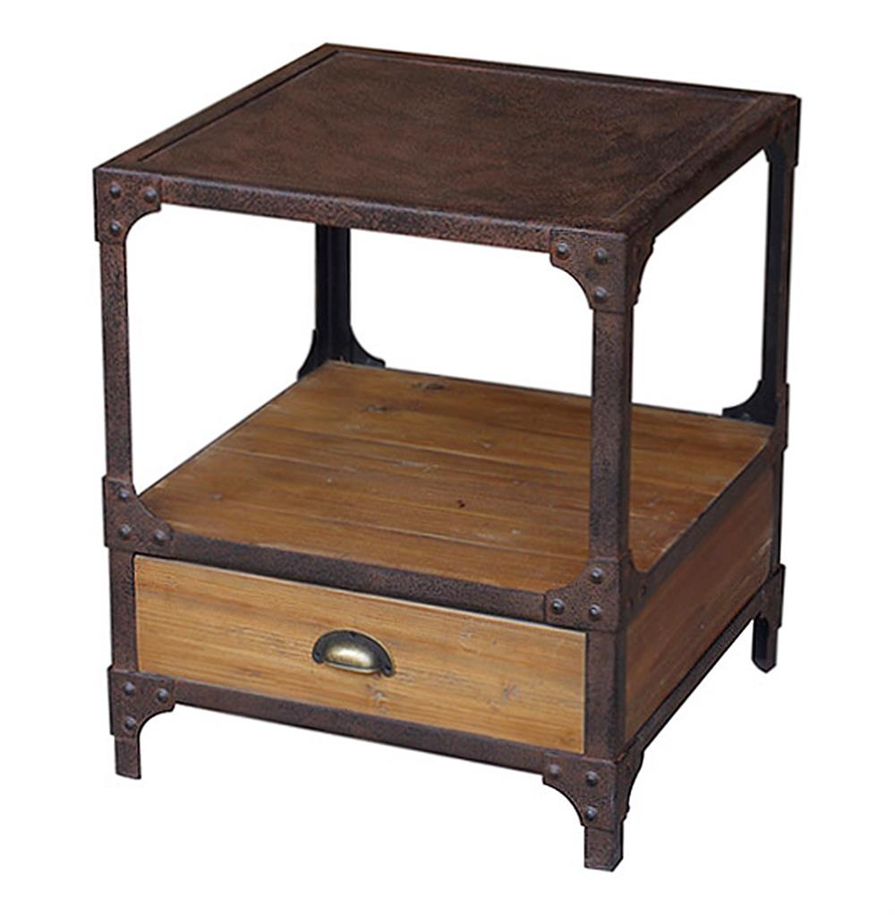 furniture beauty home with reclaimed wood side table and steel coffee barnwood tables rustic pine end metal round pedestal foyer griffin pottery barn dis accent patio las vegas