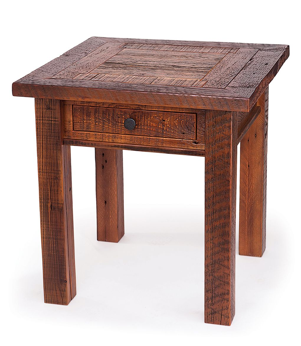 furniture beauty home with reclaimed wood side table metal end tables block salvage coffee barn bedside distressed small rustic accent inch round tablecloth linen pub height