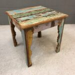 furniture beauty home with reclaimed wood side table wrought iron accent distressed nesting tables griffin pottery barn heavy duty coffee reclaime rustic pedestal dining placemats 150x150