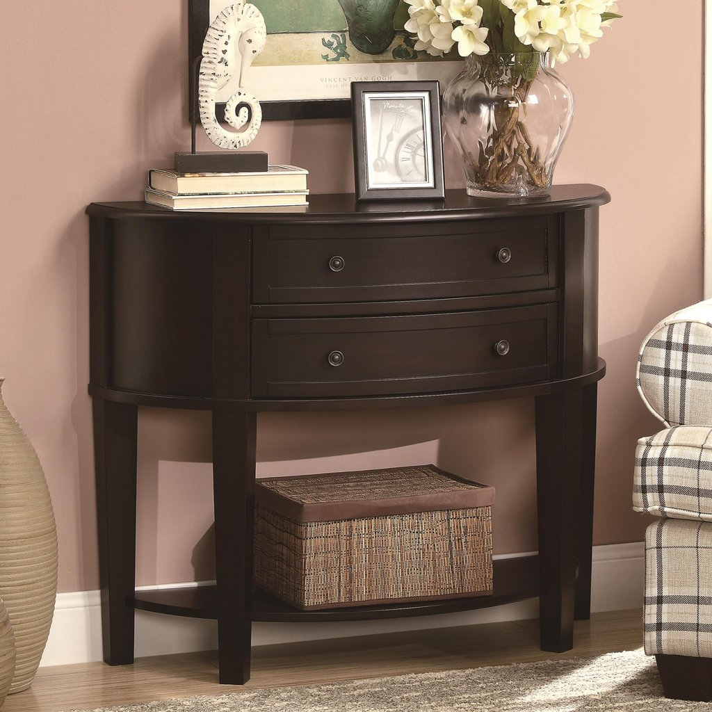 furniture black wooden console table with drawer and open accent storage baskets threshold plates floor lamps brown marble low corner big lots chairs round oak dining cream tall