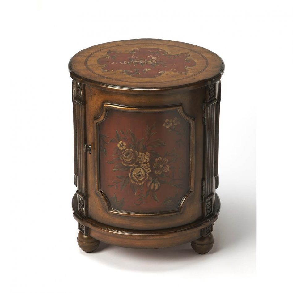 furniture butler specialty jules old spanish painted round accent table large tables ikea cube boxes oversized sectionals balcony makeup nautical bedside lamps antique side with