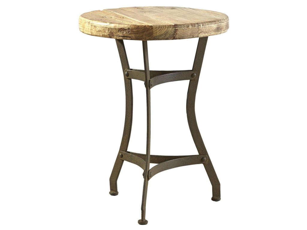 furniture classics accents recycled tripod table with products color antique wooden accent top ashley recliners tall skinny lamps wood coffee metal legs round espresso