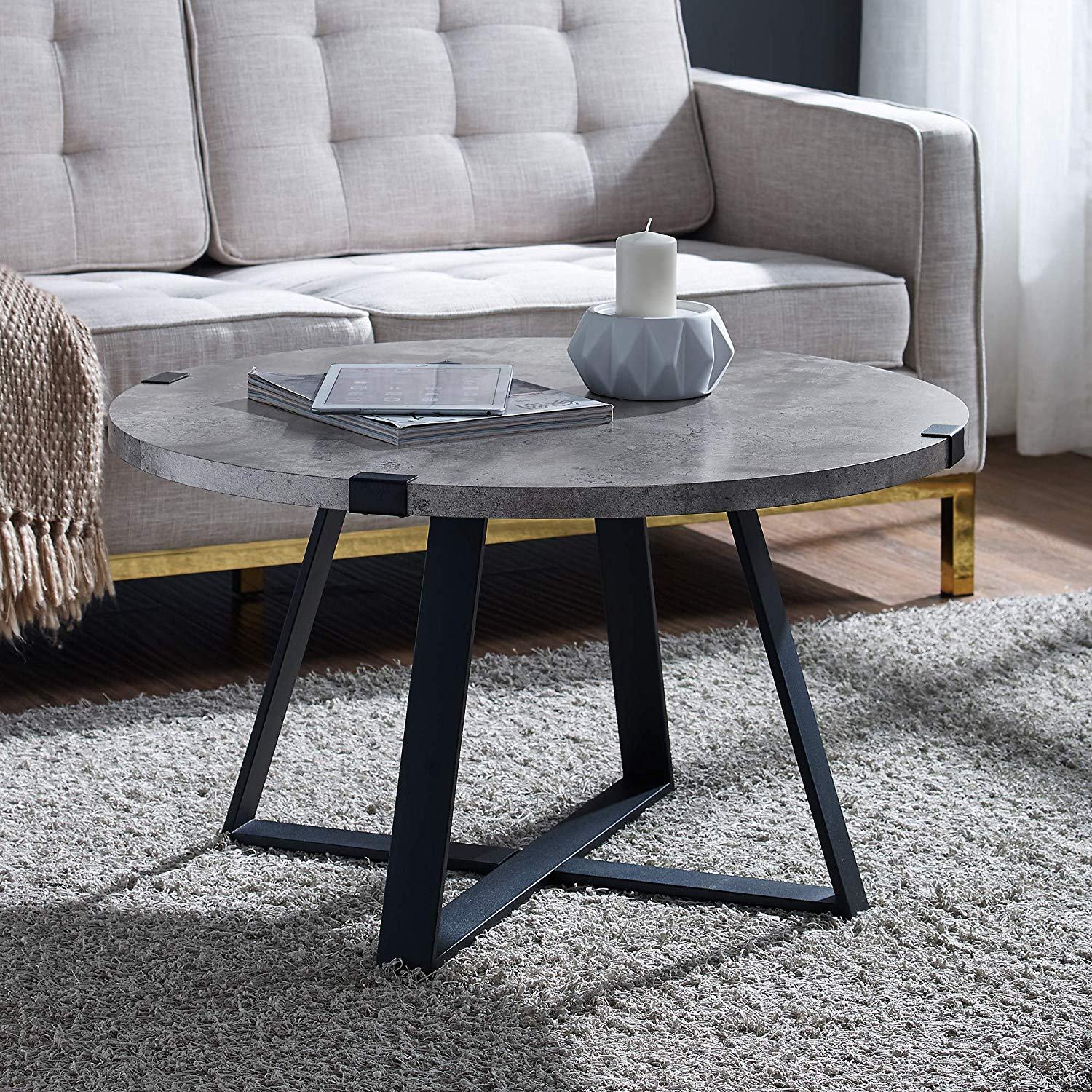 furniture coffee table dark faux concrete room essentials mixed material accent kitchen dining blue mosaic patio round gold small and chairs foot long console teak rocking skinny