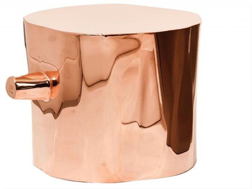 furniture copper accent table lovely arch inspirational stump side contemporary tables and drum round metal nesting half moon console cabinet drawer mirrored bedside extra small