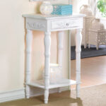 furniture cosenza antique white accent table with drawer eugene winsome bistro side brown coffee shabby chic dresser marble nesting decorative drawers ashley dining chairs 150x150