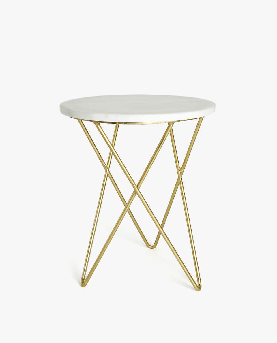 furniture decor zara home america gold wire accent table marble round farmhouse patio side elegant placemats and napkins nautical childrens lamp end tables with storage drawers