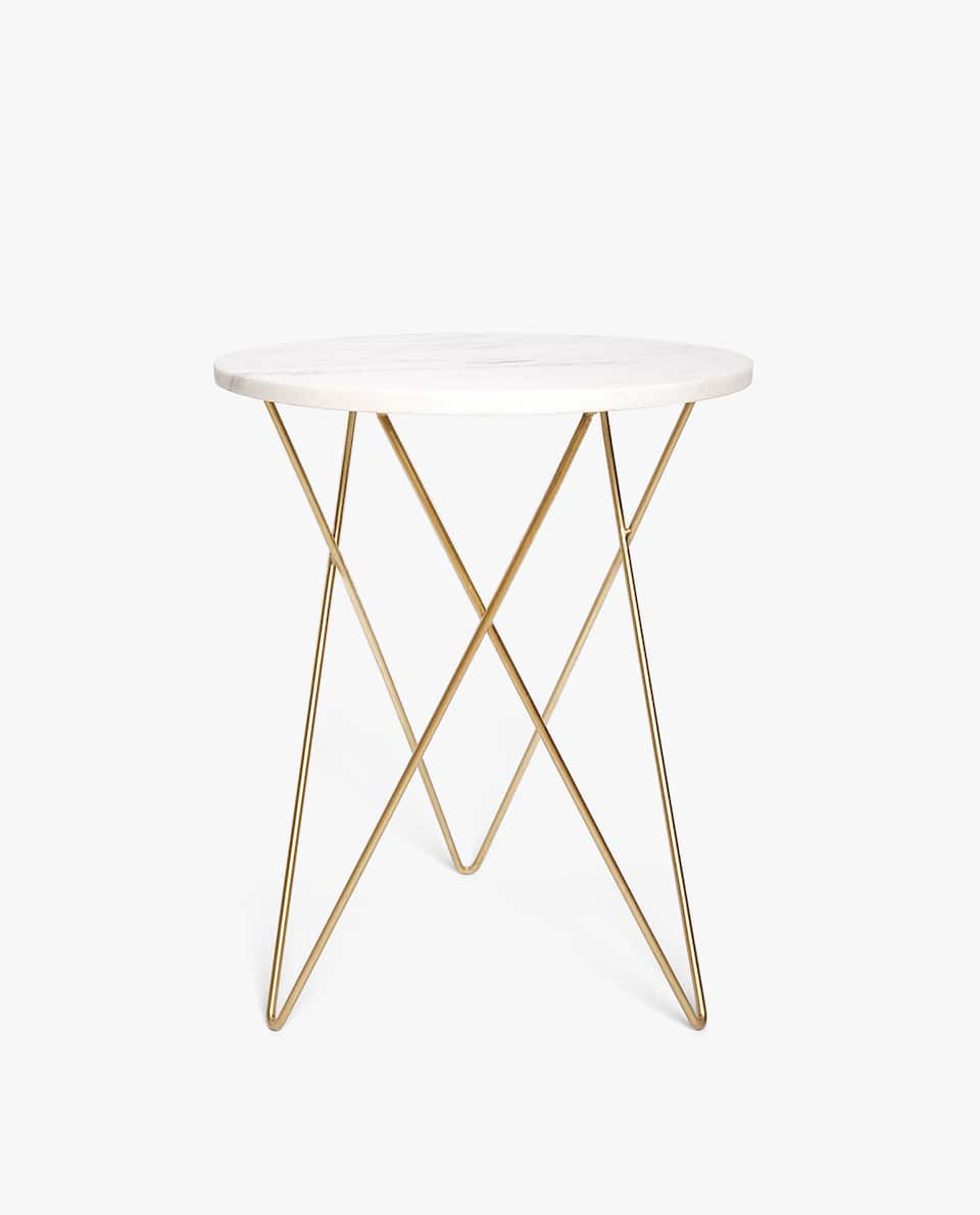 furniture decor zara home america pink marble accent table large long narrow dinner light bulb changer pole solid cherry wood coffee windham collection drum chair ballard bar