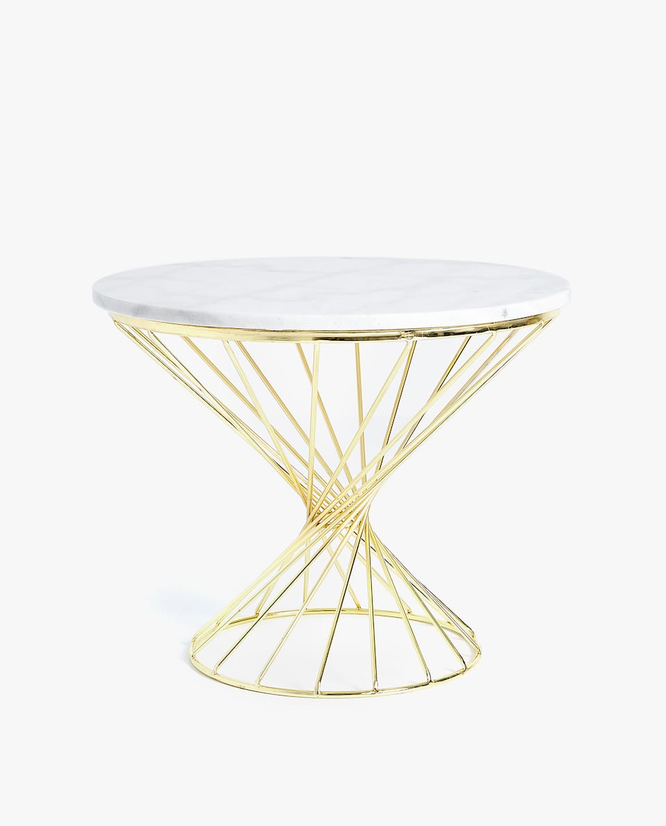 furniture decoration empty zara home turkiye pink marble accent table side with metal frame rugs tables ikea sofa storage outdoor protector round glass dining and chairs garden