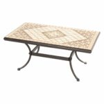 furniture distinctive square stone outdoor coffee table design with intriguing mosaic rectangular wrought iron base ott accent metal chandelier glass corner resin wicker patio 150x150