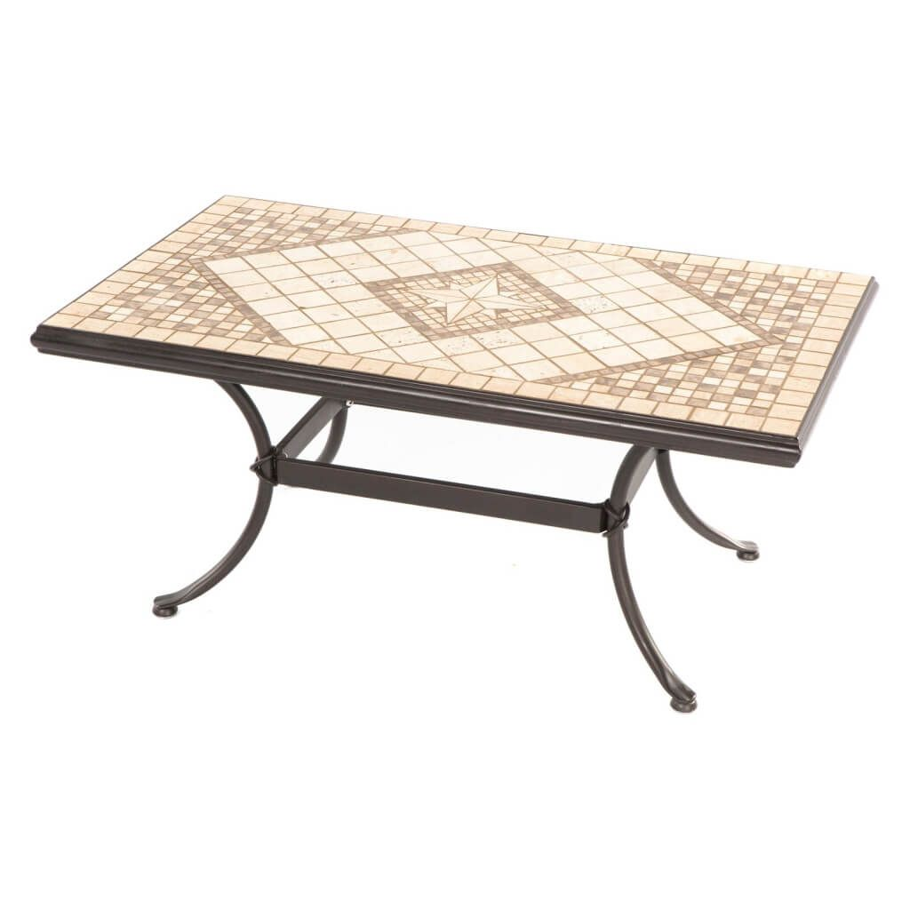 furniture distinctive square stone outdoor coffee table design with intriguing mosaic rectangular wrought iron base ott accent metal chandelier glass corner resin wicker patio