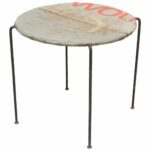 furniture distressed outdoor metal side table design legs antique drum very thin pink bedside lamps gallerie lighting brown coffee and end tables best for small living rooms red 150x150