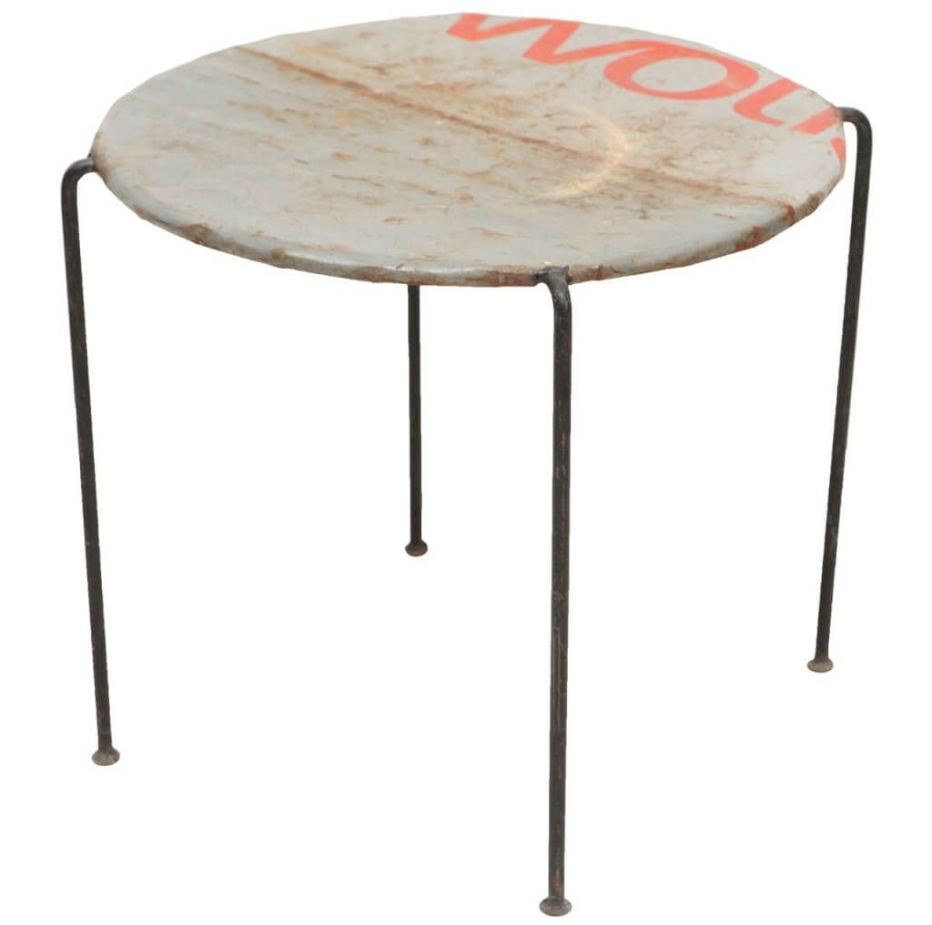 furniture distressed outdoor metal side table design legs antique drum very thin pink bedside lamps gallerie lighting brown coffee and end tables best for small living rooms red