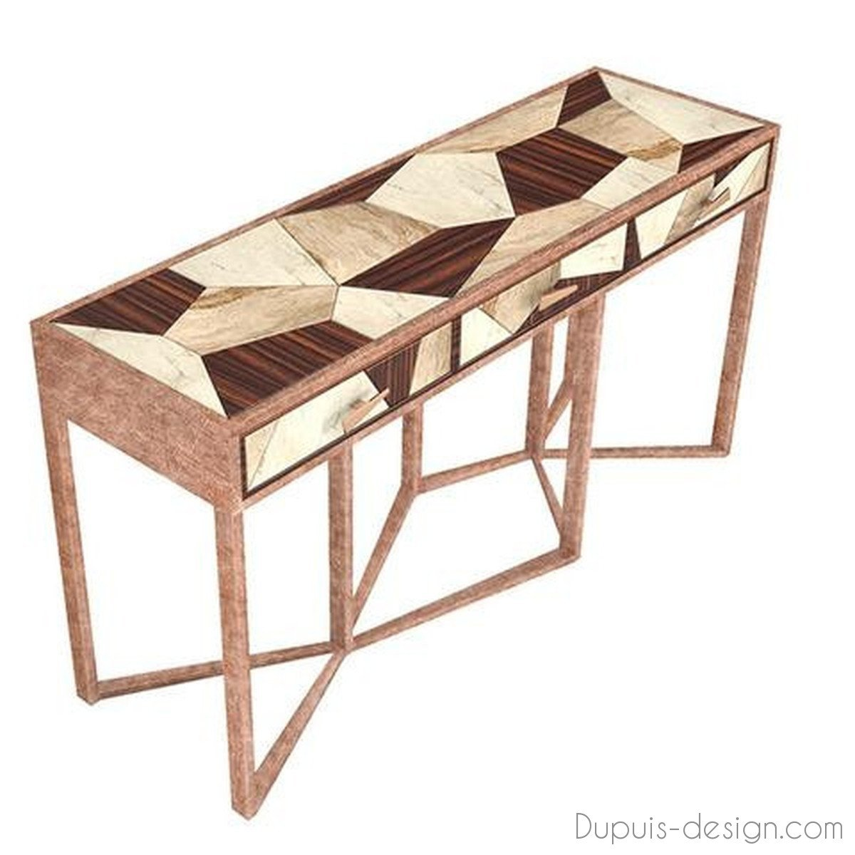 furniture dupuis design diaspore console muranti bypt large mixed material accent table attracts attention with its unique characteristics materials geometric ikea coffee dining