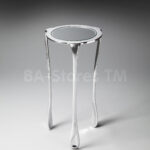 furniture elegant mirrored accent table for home ideas round with legs and chrome finish half gold inexpensive end tables narrow drawers pedestal small silver toronto cut crystal 150x150