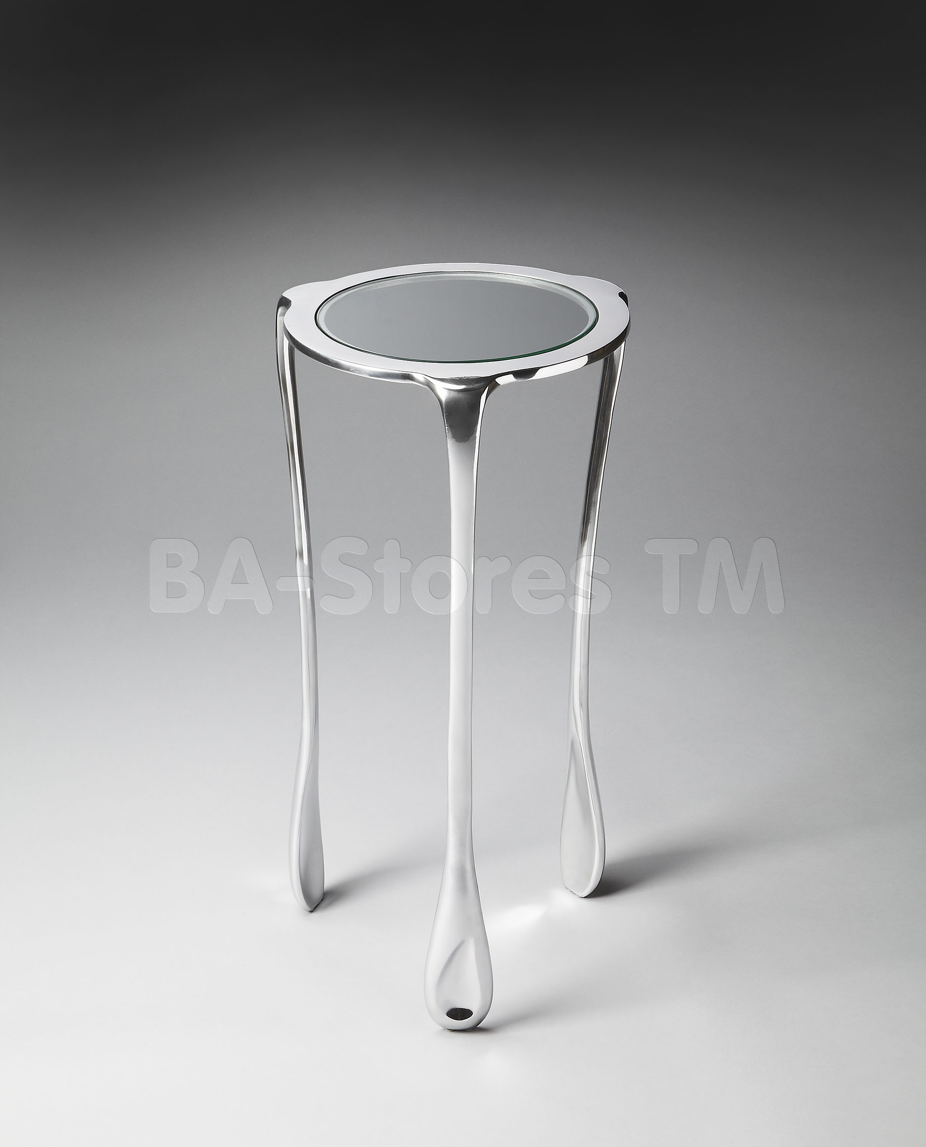 furniture elegant mirrored accent table for home ideas round with legs and chrome finish half gold inexpensive end tables narrow drawers pedestal small silver toronto cut crystal