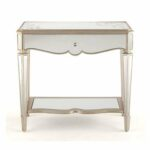 furniture elegant mirrored accent table for home ideas with curvy detail and single drawer shelf target round pedestal side desks inch coff yellow rug turners sliding barn door 150x150