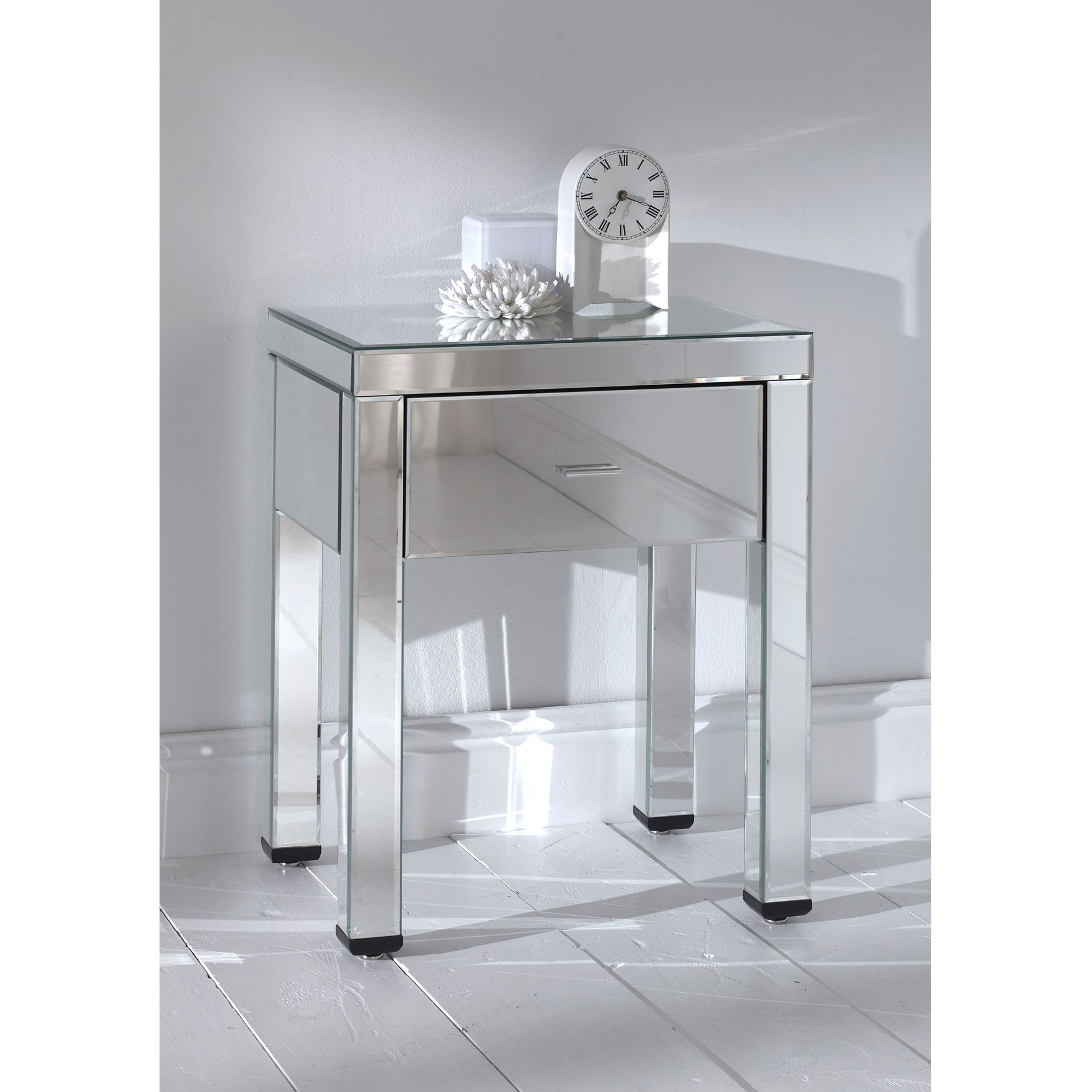 furniture elegant mirrored accent table for home ideas with single drawer plus tile floor and white wall decoration espresso bedroom antique brass coffee mosaic ethan allen desk