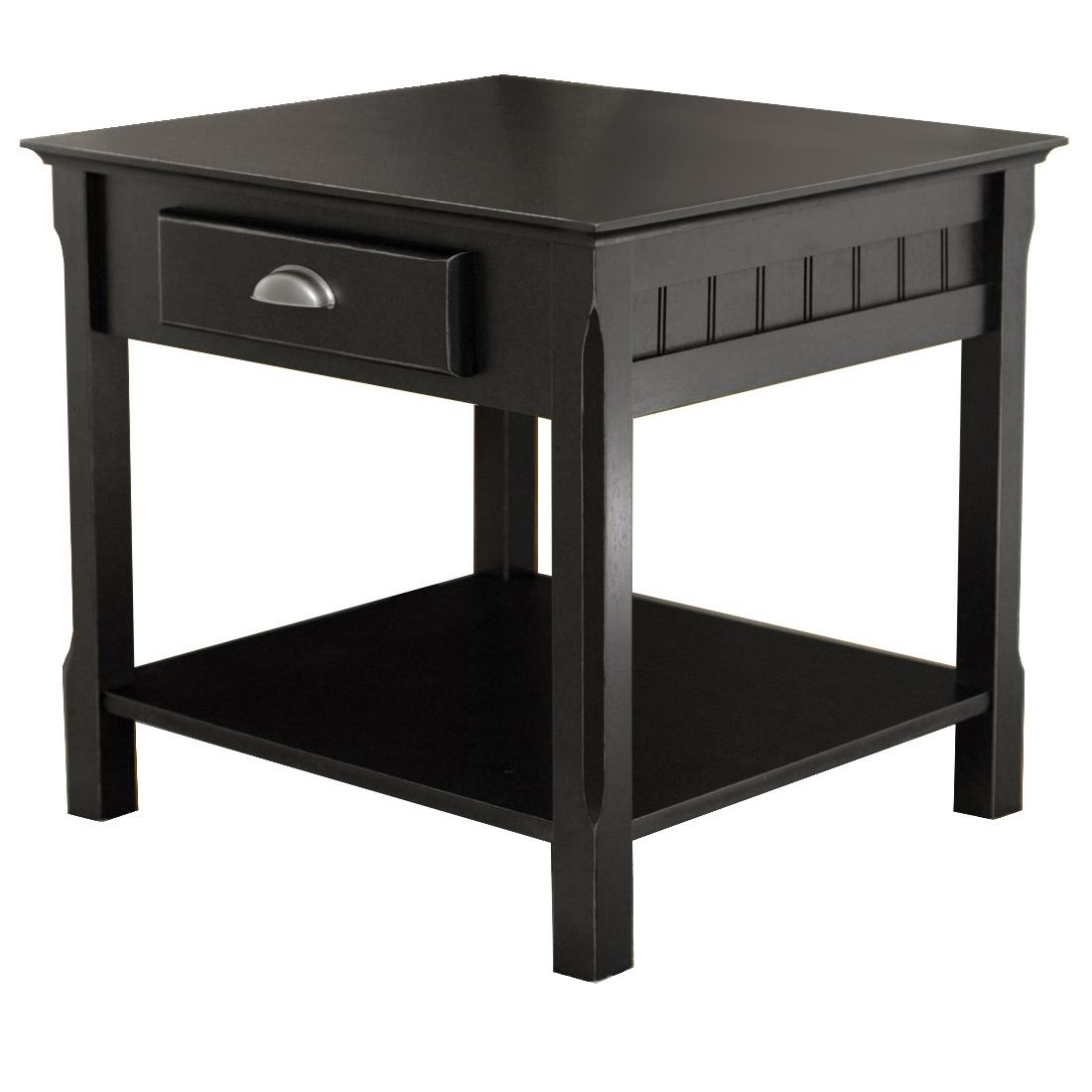 Furniture End Table Height Narrow Tables For Living Room Long Black