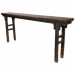 furniture exquisite long narrow wooden console table with distressed black finish oak diy small thin accent nautical vanity square outdoor side marble and walnut coffee grey 150x150