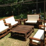 furniture fantastic diy rustic wood outdoor patio set ideas with white cushions and oversized square coffee table pallets for small spaces accent halloween tablecloth short 150x150