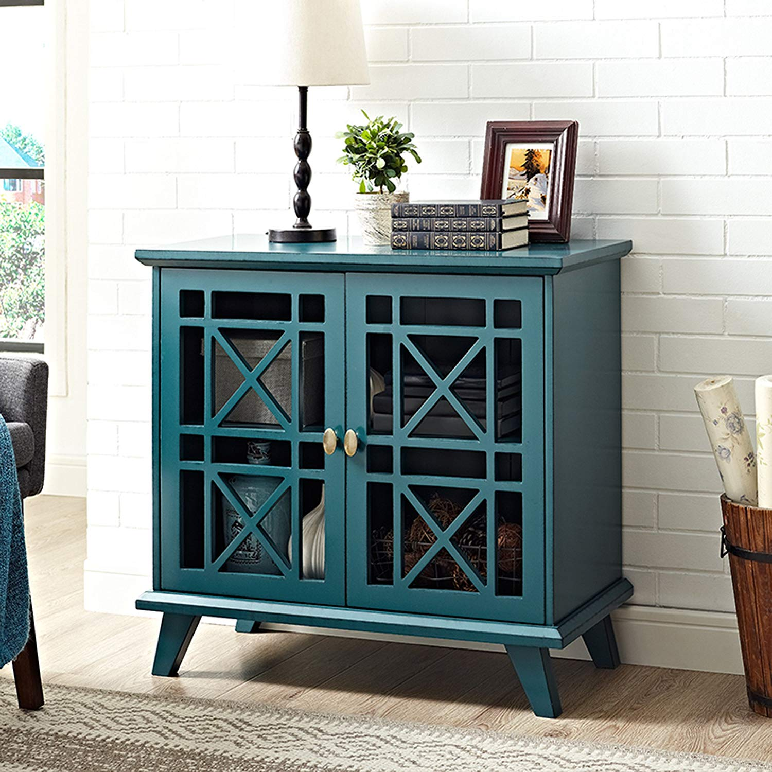 furniture fretwork accent console blue tables kisl table grey geometric rug macys coffee hand painted corner study desk silver sofa magazine side white tray target bronze rain