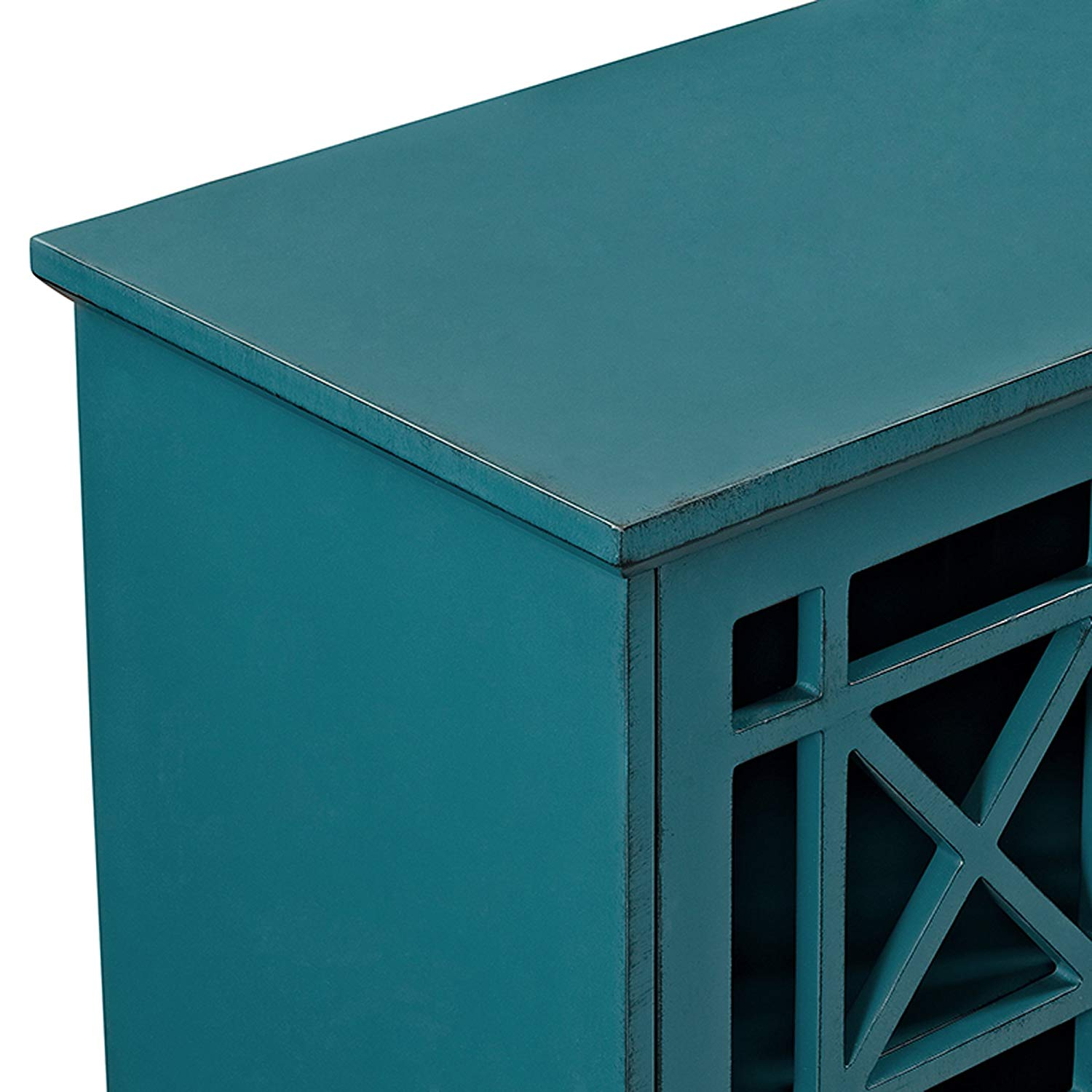furniture fretwork accent console blue tables table changing pad roland drum stool cylinder end sofa and side cloth magazine modern outdoor silver west elm media hobby lobby metal
