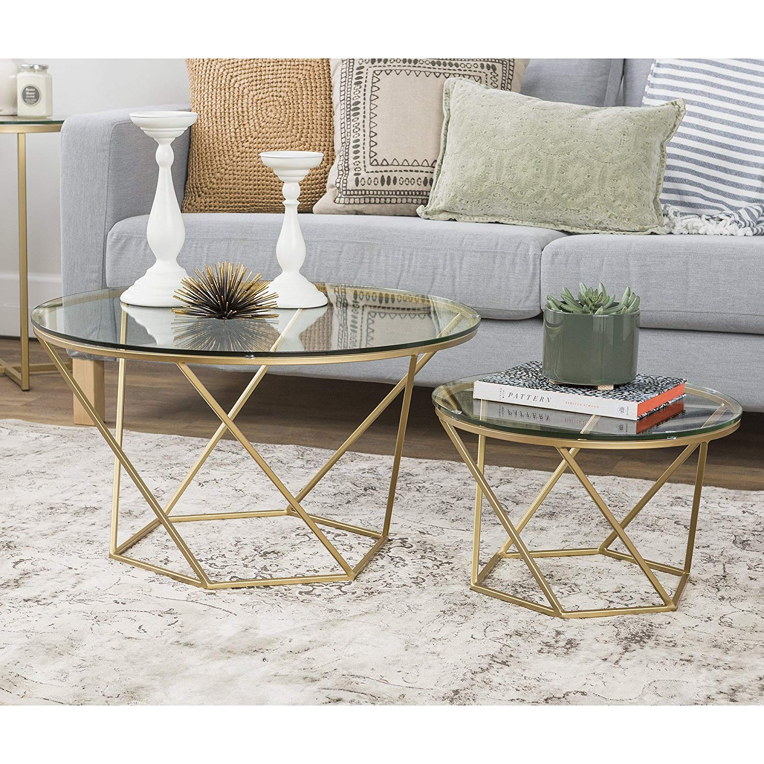 furniture geometric glass nesting coffee tables bxel black gold accent table kitchen dining novelty lamps wrought iron patio side white half moon console large square rustic
