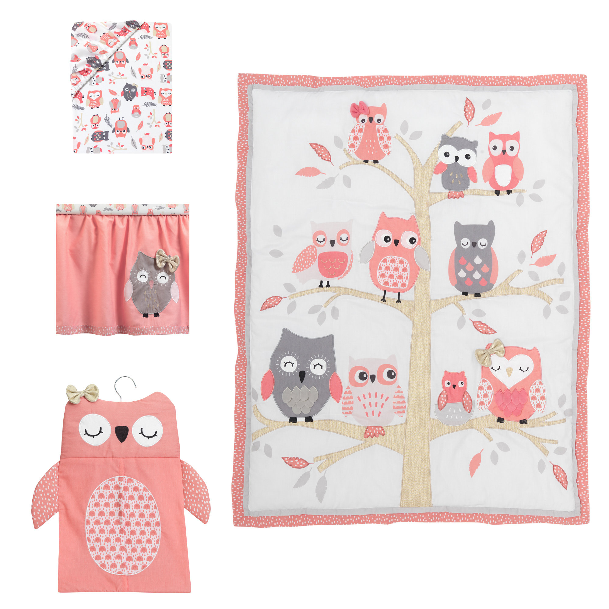 furniture give your nursery tic accent with cute owl crib dinosaur bedding jcpenney baby sets for boys elephant purple woodland animal tables white cotton tablecloths home goods