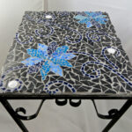 furniture good looking for outdoor living room design and decoration using square black ceramic blue flower mosaic table marvelous space with out accent indoor glass end tables 150x150