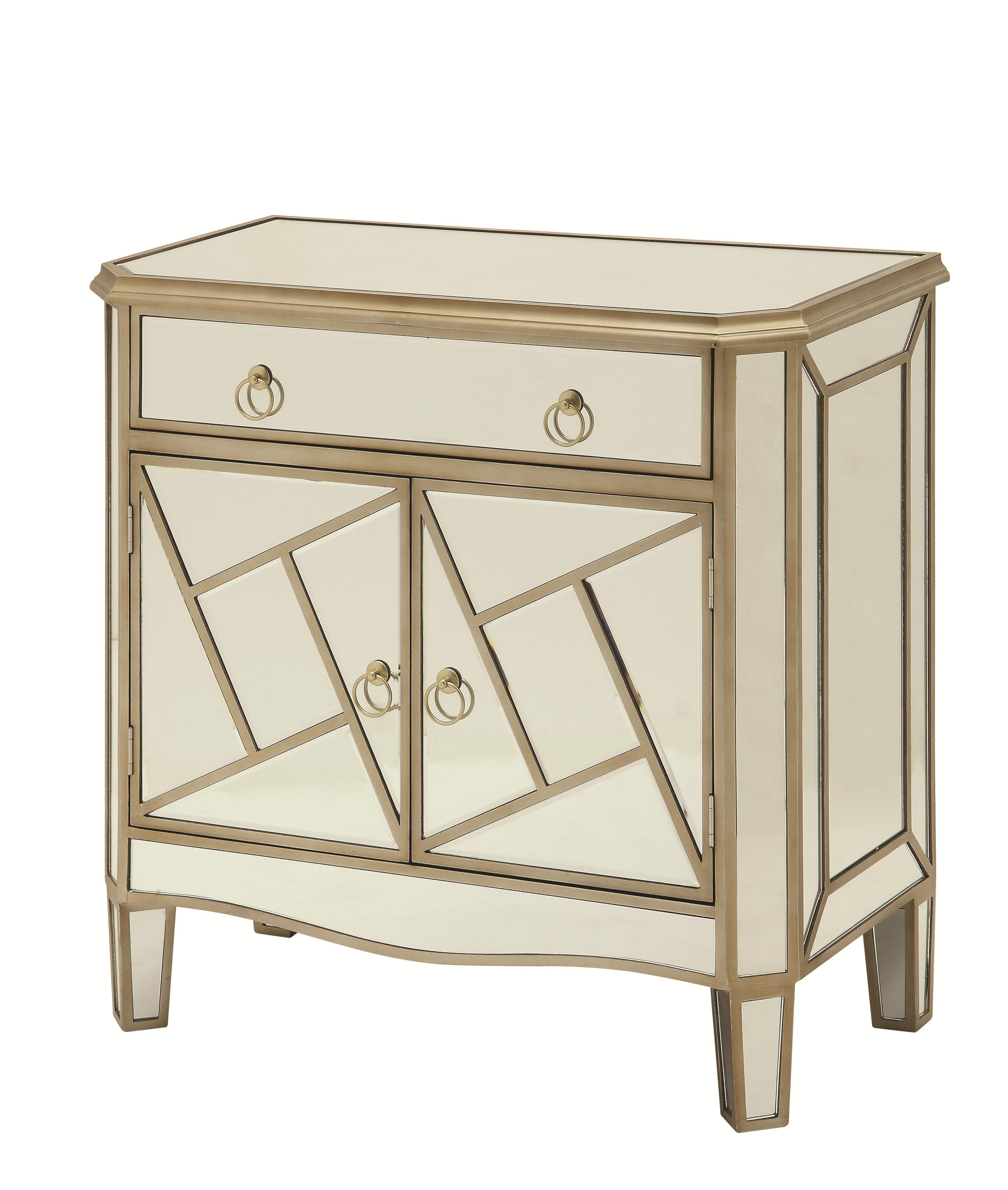 furniture gorgeous accent cabinets with special classic design for geometrical mirrored console table small chest threshold cabinet hollywood drawers hallway smal dining room