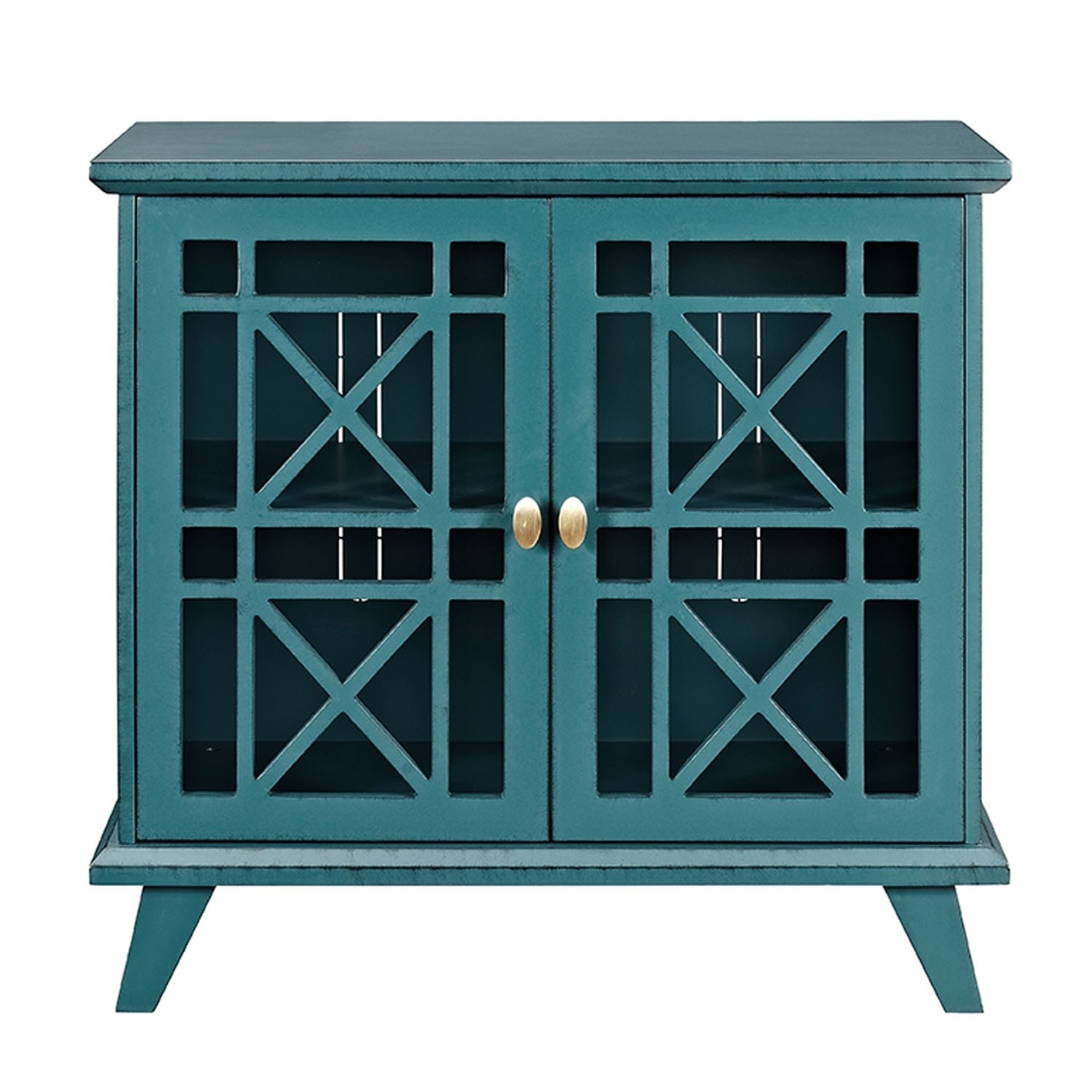 furniture gwen fretwork solid wood decorative accent console table blue roland drum stool hand painted entryway small coffee legs tile patio outdoor industrial end corner study