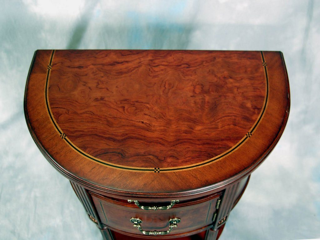 furniture half round accent table beautiful demilune end burl ash mahogany plans resin nic reading light for wooden bedside designs acrylic and gold coffee champagne ice bucket