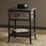 furniture industrial accent table end side nightstand rustic distressed intended for fresh night stand applied your residence design winsome timmy black brass glass top umbrella 150x150