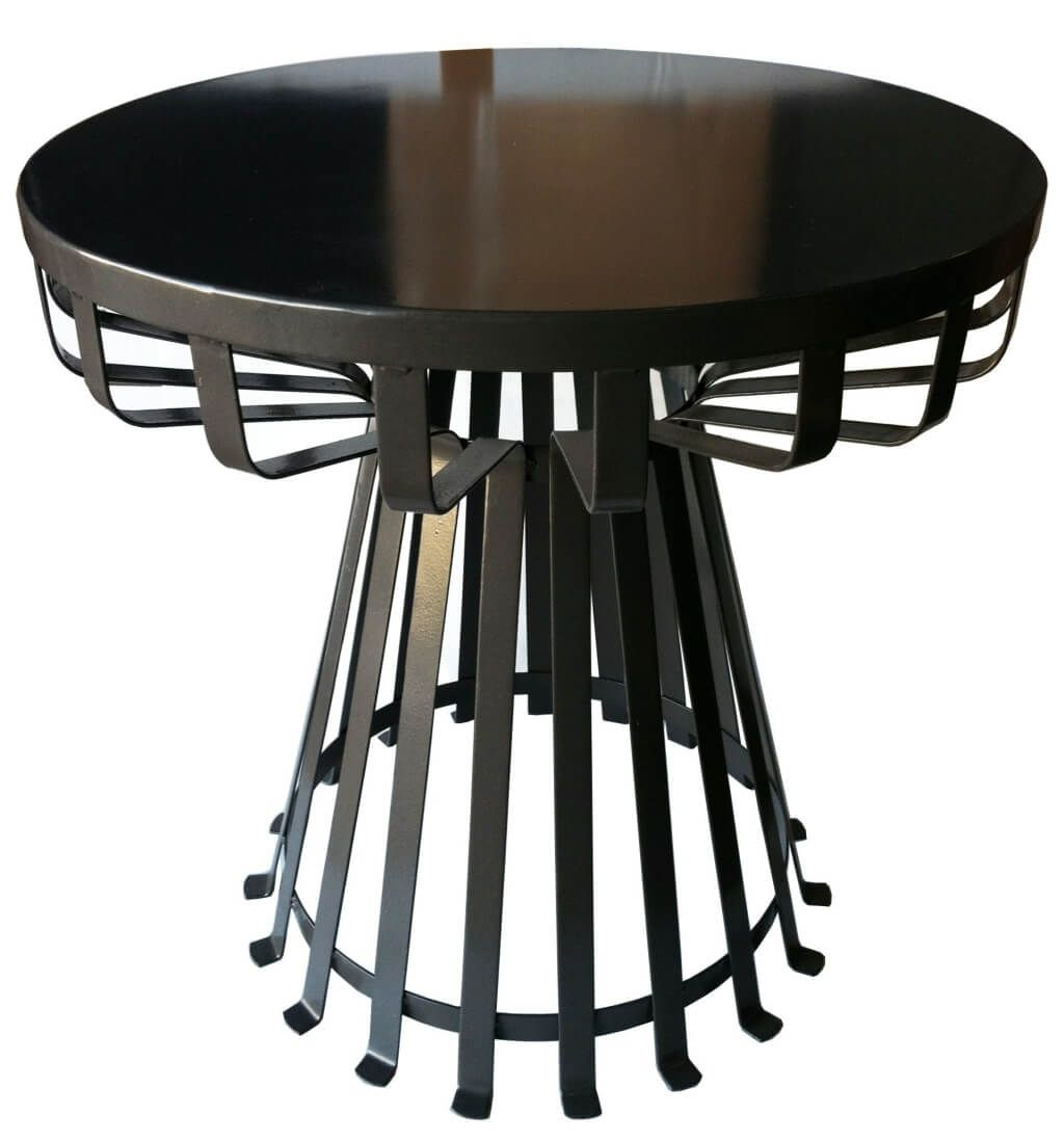 furniture interesting aqua blue round metal side table design contemporary black ideas accordion tables for bedroom outdoor target gooseneck lamp small square pottery barn