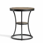 furniture interesting aqua blue round metal side table design dazzling small for outdoor rivets oak and distressed accent black stools corner with drawer patio parasol meyda 150x150