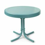 furniture interesting aqua blue round metal side table design west elm argent accent small tablecloth printed chairs brown wicker end contemporary chandeliers outdoor glass top 150x150