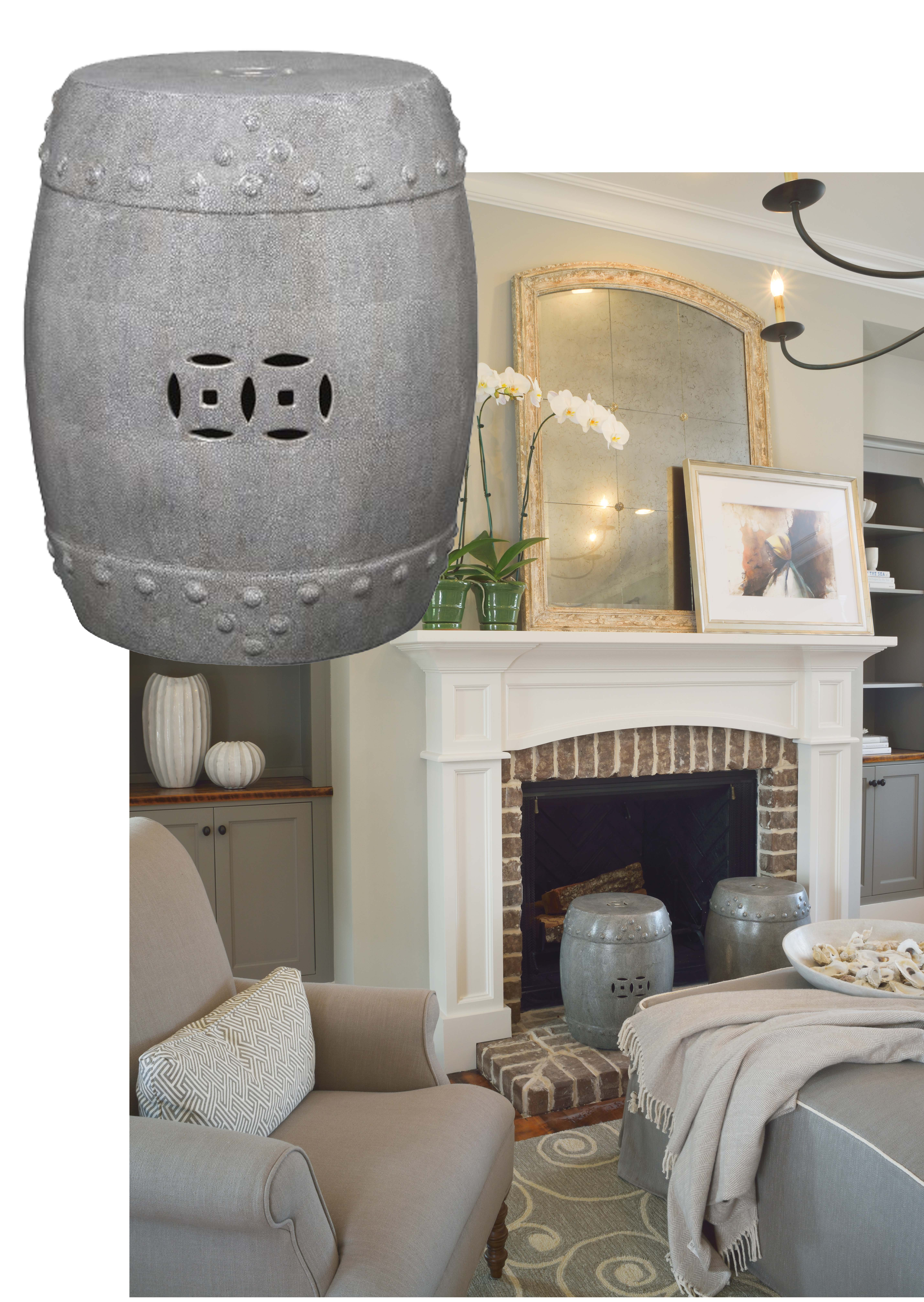 furniture interesting ceramic garden stool for outdoor living room design using grey plus fireplace and armchair blue accent tables white chinese stools silver seat table wicker