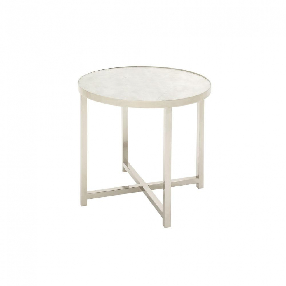 furniture litton lane white round accent table with silver legs the intended for splendiferous metal applied your home inspiration ceramic stool side marble coffee target teal