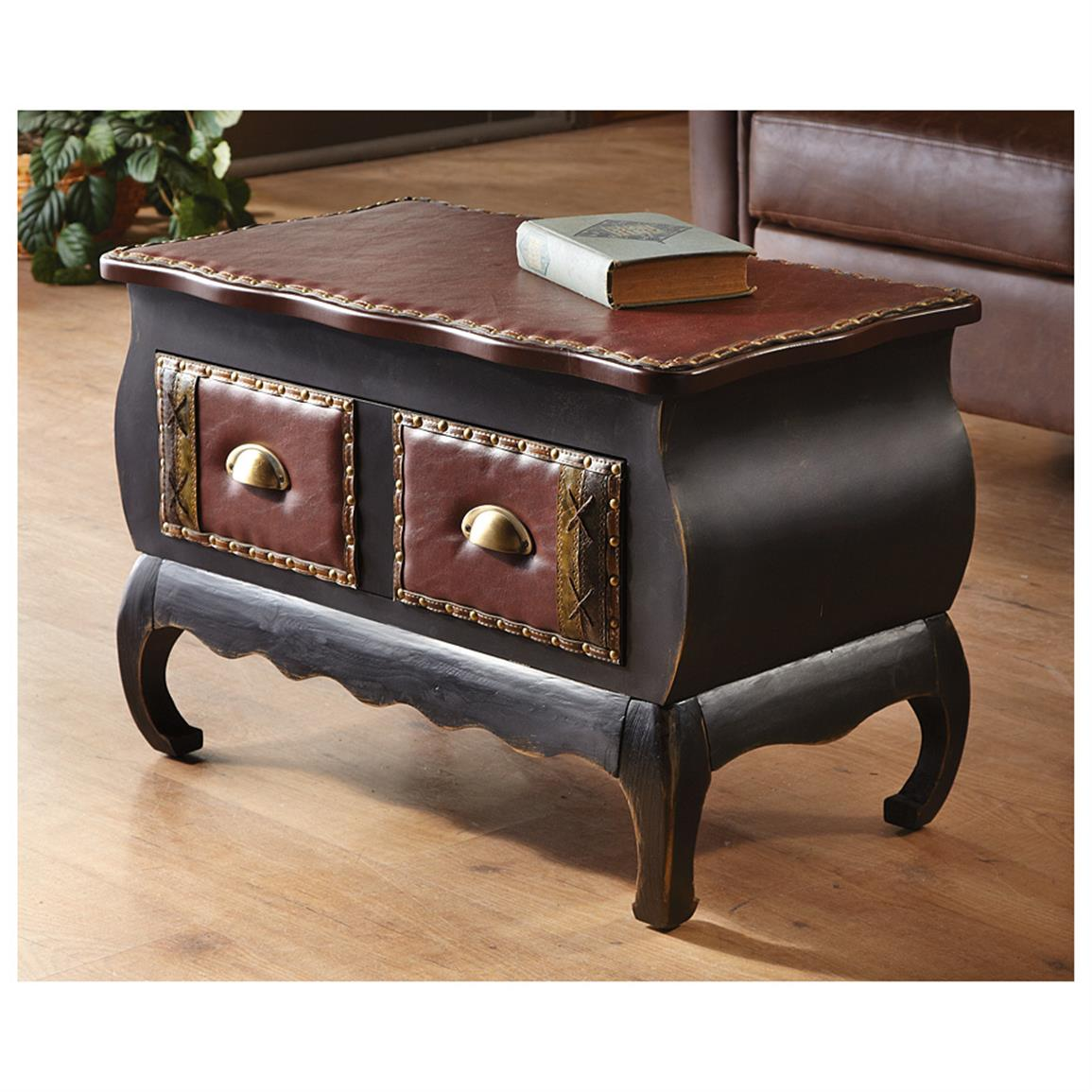 furniture living room accent table rolldon design ideas varnished wood floor tile brown leather comfy sofa coffee top skirt with drawer accen round skirts contemporary lamp