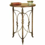 furniture luxury french metal side table decorative accordion accent tables bronze modern marble top coffee pottery barn dining mosaic garden bench woodworking plans transition 150x150