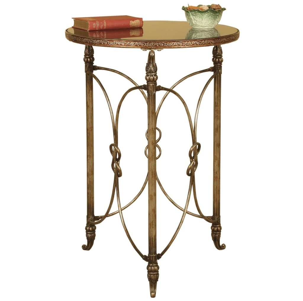 furniture luxury french metal side table decorative accordion accent tables bronze modern marble top coffee pottery barn dining mosaic garden bench woodworking plans transition