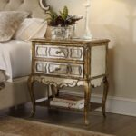 furniture mahogany nightstand gold metal steel inspired moroccan accent table high dresser and crystal lamps unfinished affordable bedside tables homepop skinny runner cute 150x150
