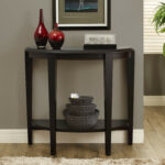 furniture mesmerizing half moon accent table with elegant looks amusing appealing black whitewashed office and near gray wall paint brown rug dining entry semi circle console moo 150x150