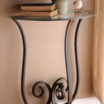 furniture mesmerizing half moon accent table with elegant looks decorative gorgeous iron long console drawers and brown wall paint end tables round circle bronze drum coffee 150x150