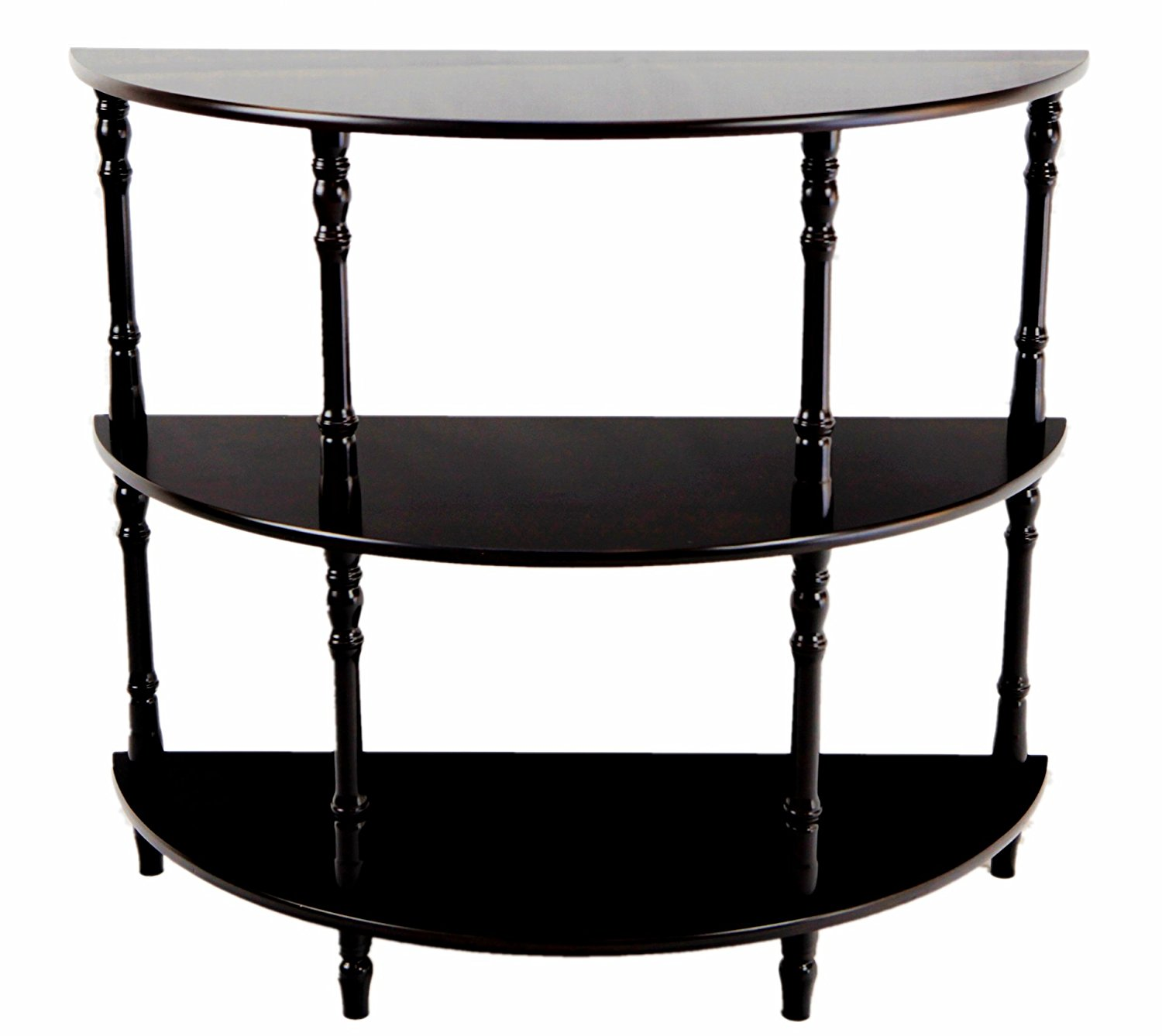furniture mesmerizing half moon accent table with elegant looks stunning impressive double shelf black awesome console entryway and curved kitchen narrow demilune tables white