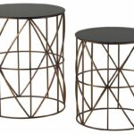 furniture metal drum accent table inspirational coast elegant set two gold finish round tables real wood coffee outdoor dining clearance umbrella base pretty storage boxes ikea 150x150